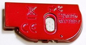 NIKON COOLPIX L20 RED BATTERY DOOR COVER LID CAP