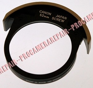 CANON DROP-IN FILTER HOLDER FOR 52MM SCREW-IN FILTERS